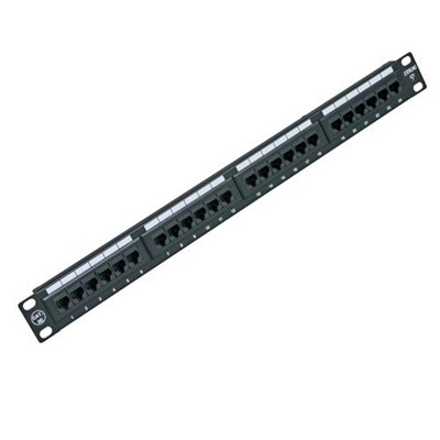Patch Panel 24Way Cat5e Krone 568B (8x3 Blocks)