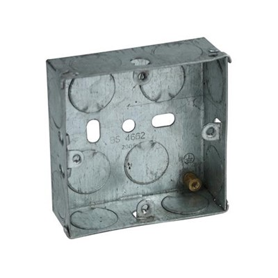 Metal Switch Box 16mm Single to BS4662